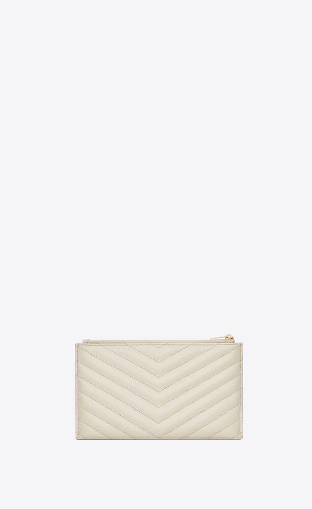 monogram clutch aus leder mit grain-de-poudre-struktur