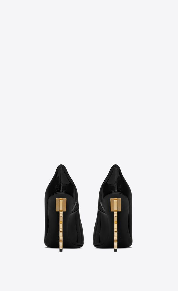 opyum pumps with gold-toned heel in patent leather