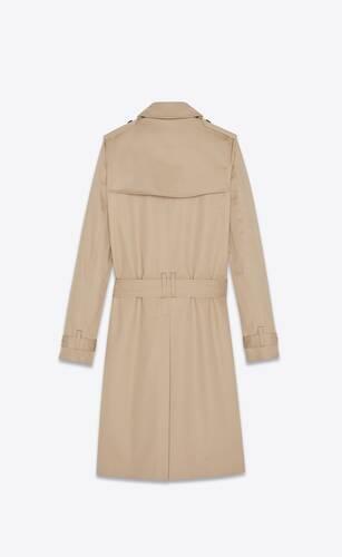 saint laurent trench coat in gabardine
