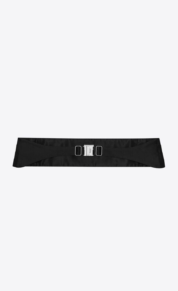 smoking cummerbund pleated belt in silk satin