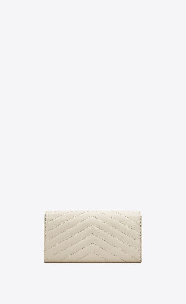 großes monogramme portemonnaie aus leder mit grain-de-poudre-struktur