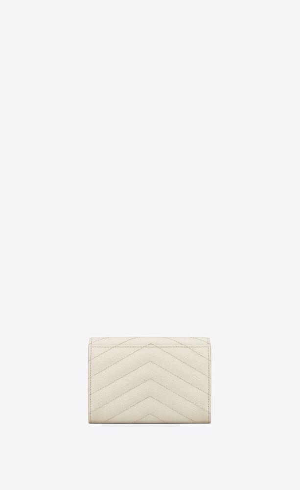 monogram small envelope wallet in grain de poudre embossed leather