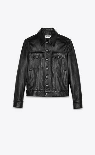 lambskin denim jacket
