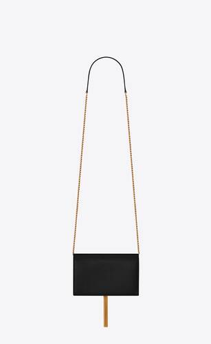 kate chain wallet with tassel in grain de poudre embossed leather