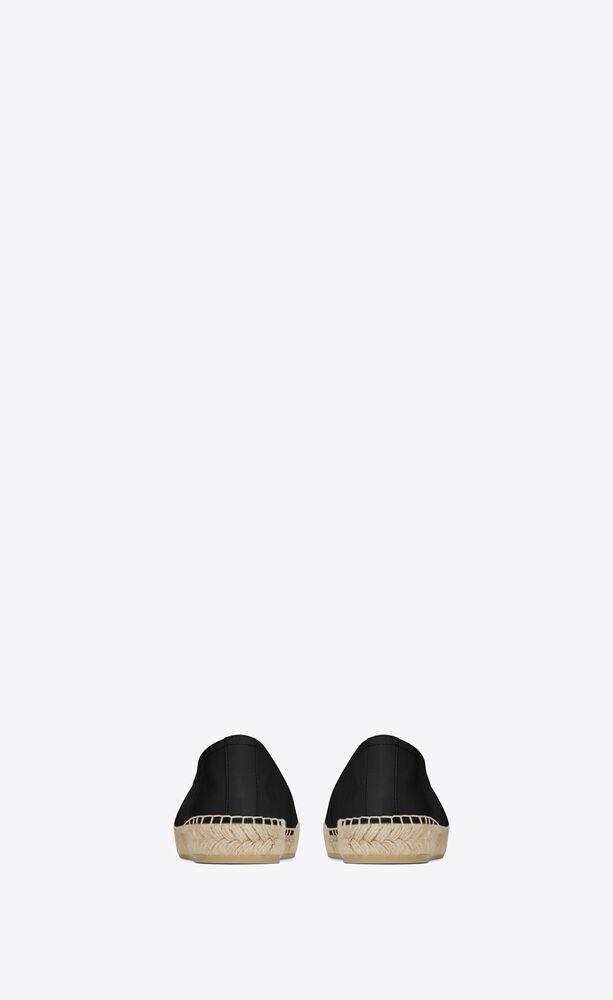 espadrille aus schwarzem leder