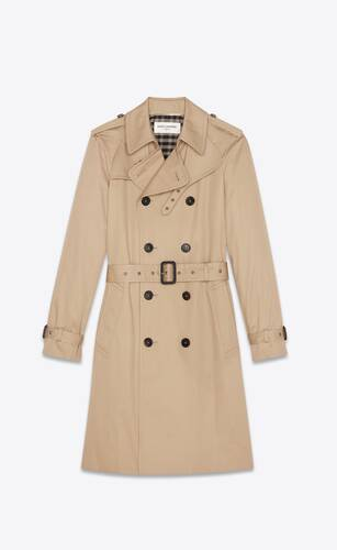 trench saint laurent en gabardine