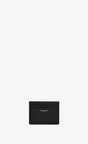 card case in grain de poudre embossed leather