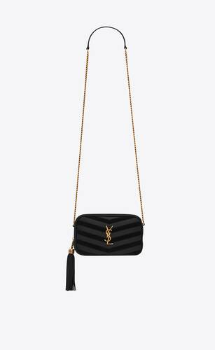 lou mini bag in  suede and matelassé leather