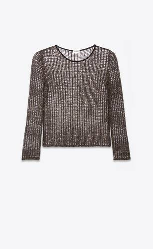 lamé knit sweater with sequins