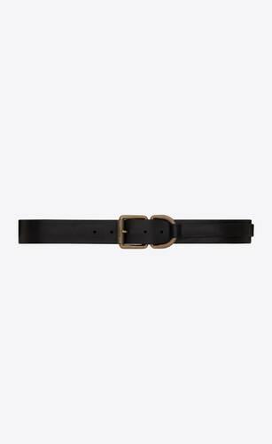 motorcycle buckle belt in vintage leather