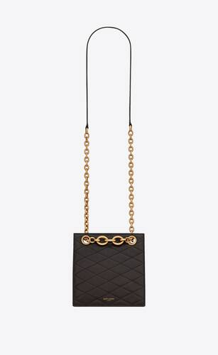 le maillon squared chain bag in lambskin