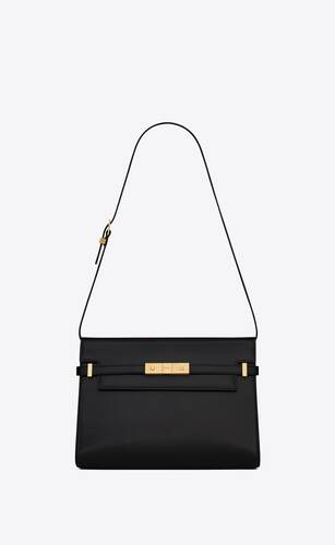 bolso de hombro manhattan de piel box saint laurent
