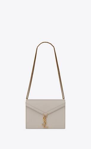 cassandra medium bag with monogram slider in smooth leather