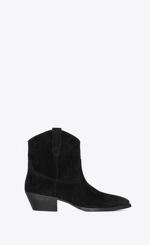 west ankle boots in suede