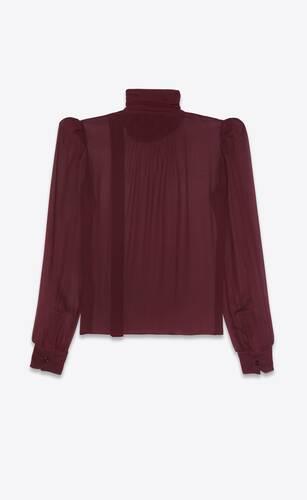 blouse transparente en mousseline crêpe