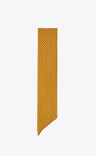 long lavallière scarf in dotted silk muslin