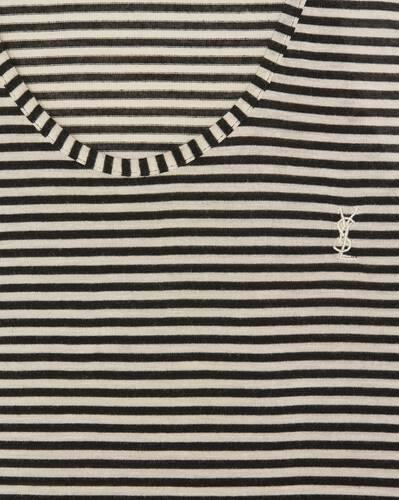 striped monogram tank top in jersey