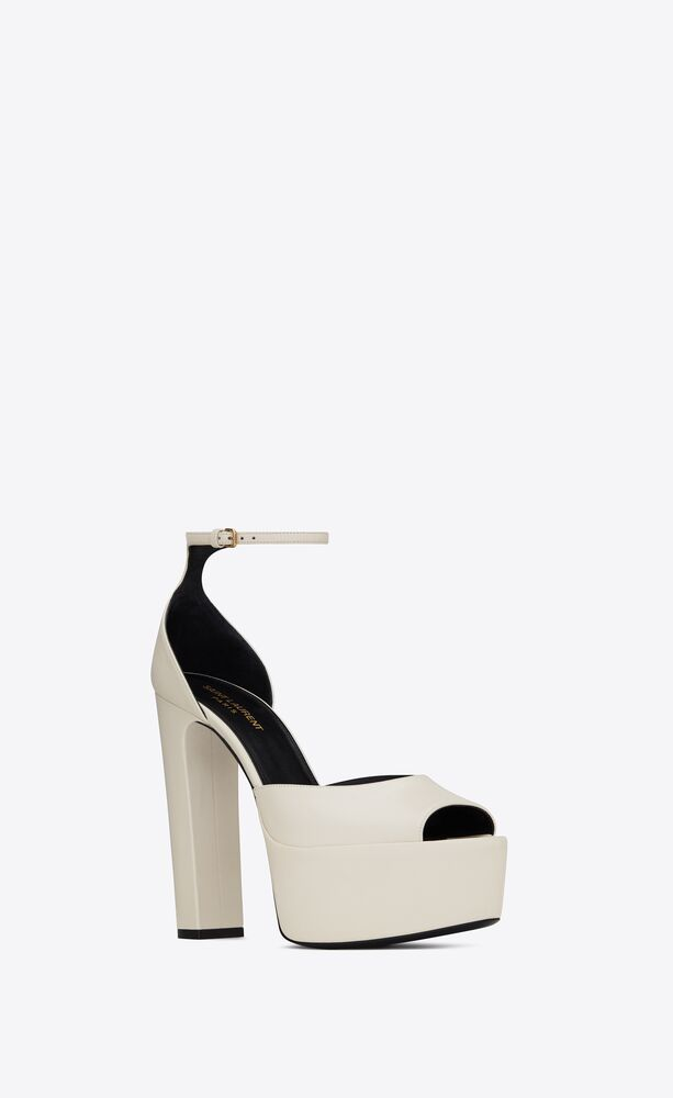 jodie platform sandals in smooth leather