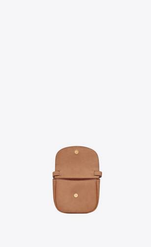 kaia mini satchel in smooth vintage leather