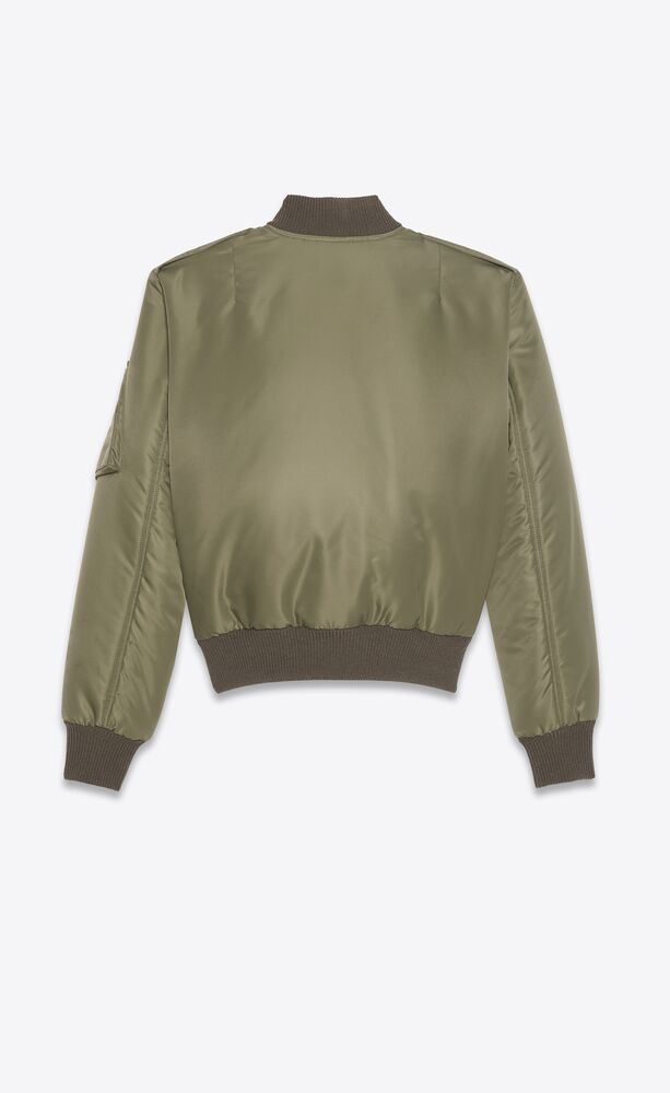 bomber jacket in nylon