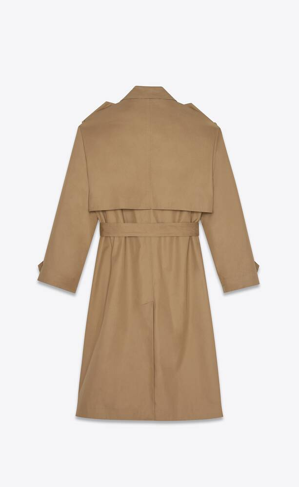 oversized trench coat in cotton