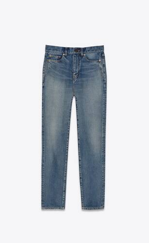 carrot-fit jeans in santa monica blue denim