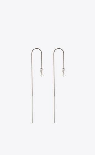 opyum ysl long threader earrings in metal