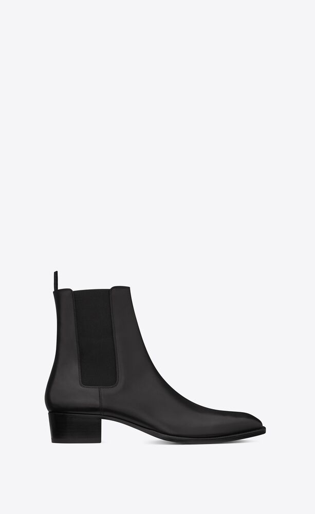 wyatt chelsea boots in smooth leather