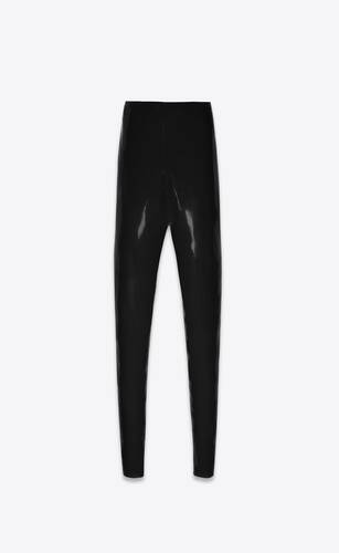 high-rise latex leggings