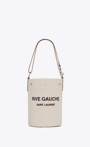 bolso saco rive gauche de lino