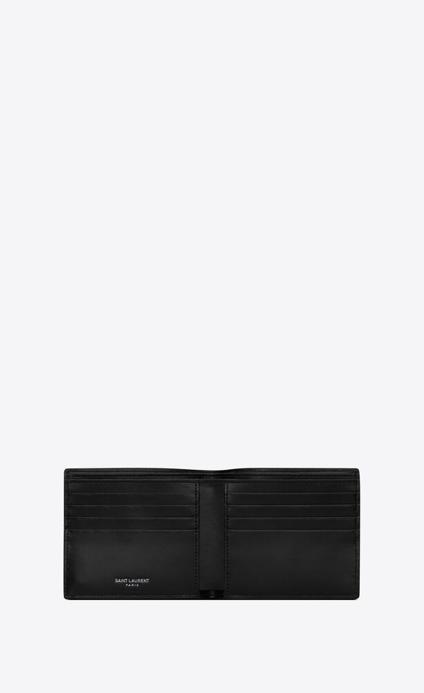 tiny monogram east/west wallet in shiny leather