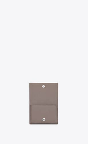 tiny wallet in grained leather