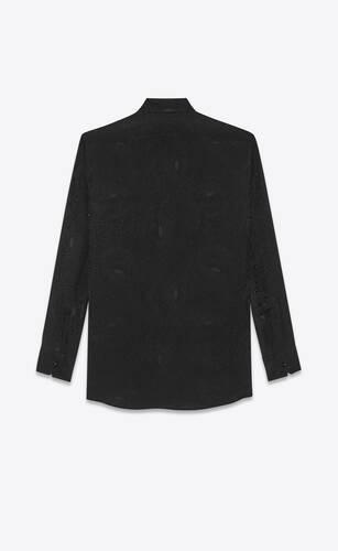 shirt in art deco spiral silk jacquard
