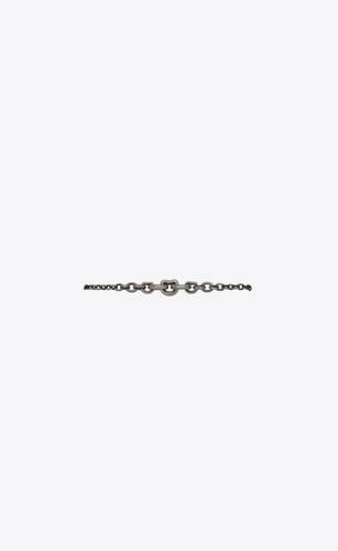 mini graduated chain bracelet in silver