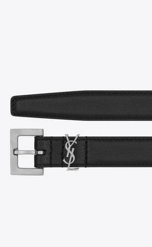 monogram belt in smooth leather