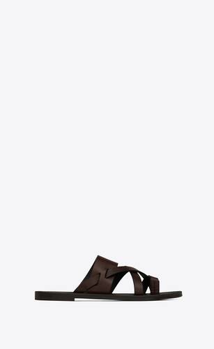 culver flat mules in smooth leather