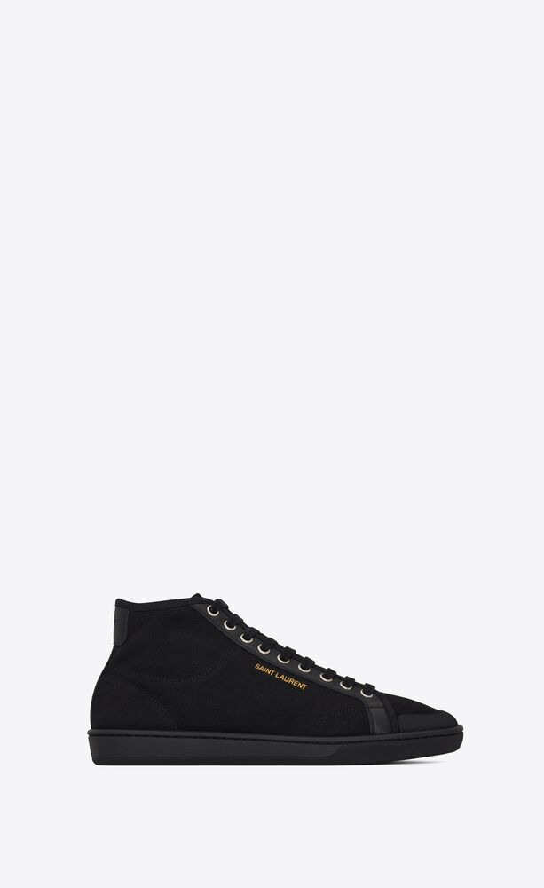 court classic sl/39 mid-top sneakers in canvas and leather