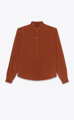 blusa de crepé de seda china