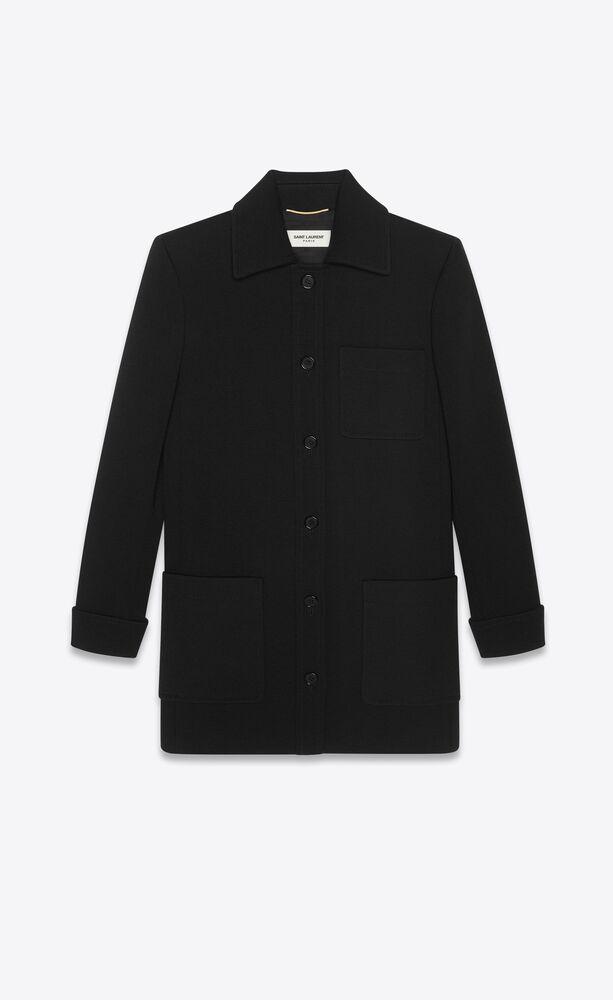 manteau ajusté en jersey de laine
