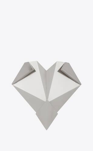 origami heart-shaped paperweight