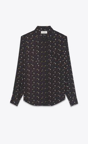 classic western shirt in stars-print twill