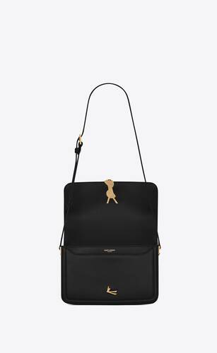 bolso cruzado solférino medium de piel box saint laurent