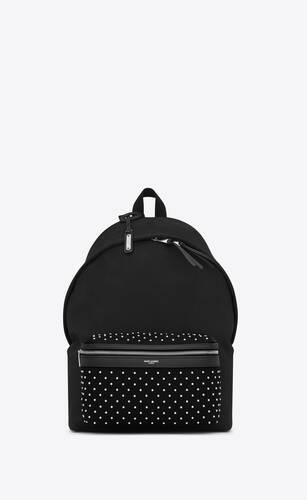 saint laurent city backpack in canvas