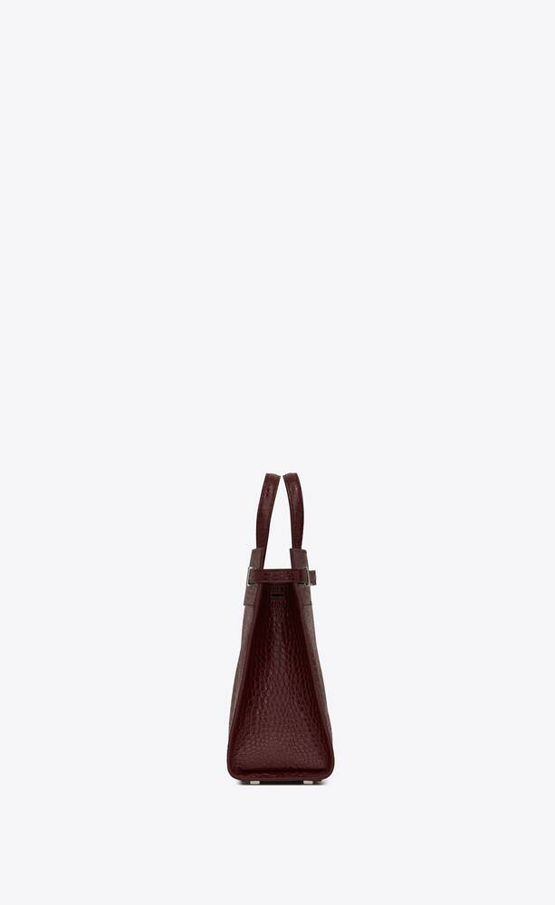 bolso shopper manhattan small de piel repujada de cocodrilo brillante