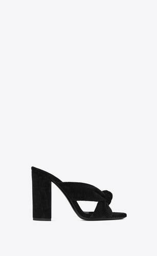 bianca heeled mules in corduroy