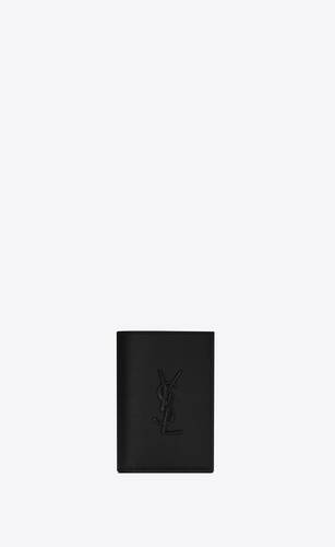 monogram lederportemonnaie für kreditkarten mit grain-de-poudre-prägung