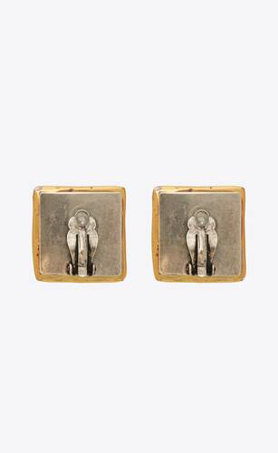 héritage vintage square cabochon earrings in ceramic and glass