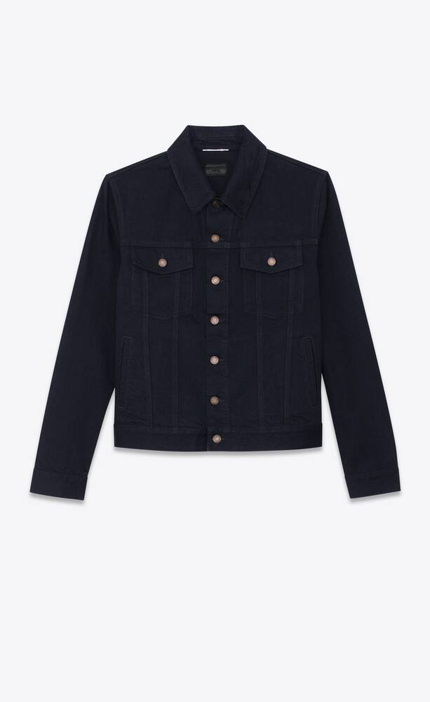 veste en denim worn black