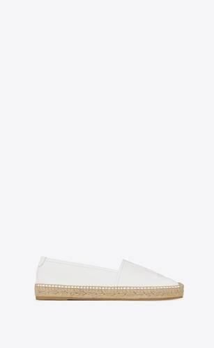 espadrille aus weißem leder