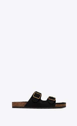 jimmy flat sandals in pony-effect leather